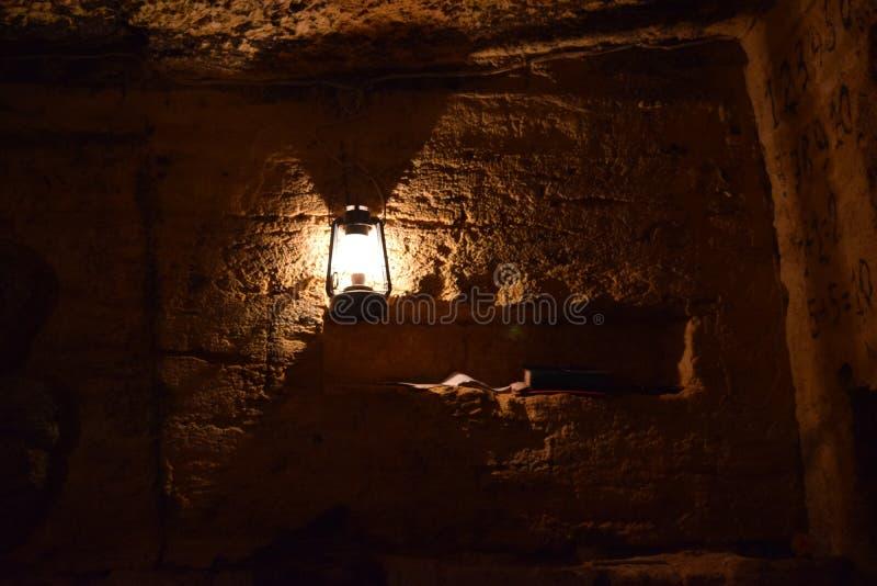 Catacombes d'Odessa un endroit très bel image stock