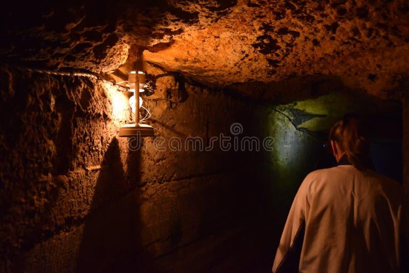 Catacombes d'Odessa un endroit très bel photo libre de droits