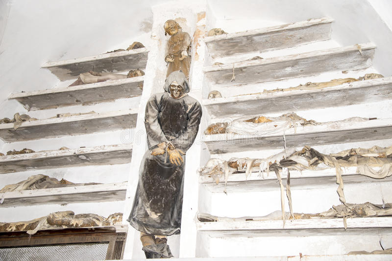 Catacombes de capucin - Palerme photo stock
