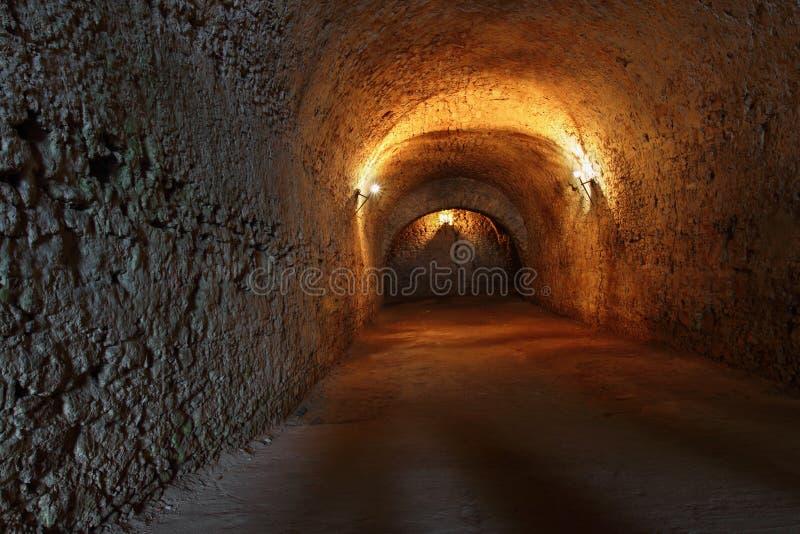 Catacombs arkivbild