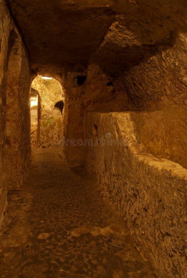 Catacombs cristãos, Rabat, Malta fotos de stock royalty free
