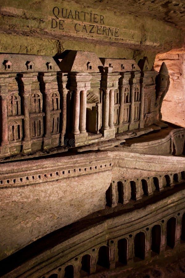 Catacombs de Paris fotografia de stock royalty free