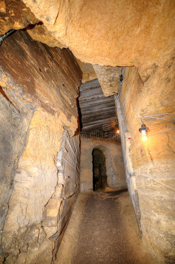 Catacombs Network, Odessa, Ukraine Royalty Free Stock Image