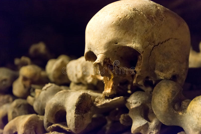 The Catacombs Of Paris Stock Photo