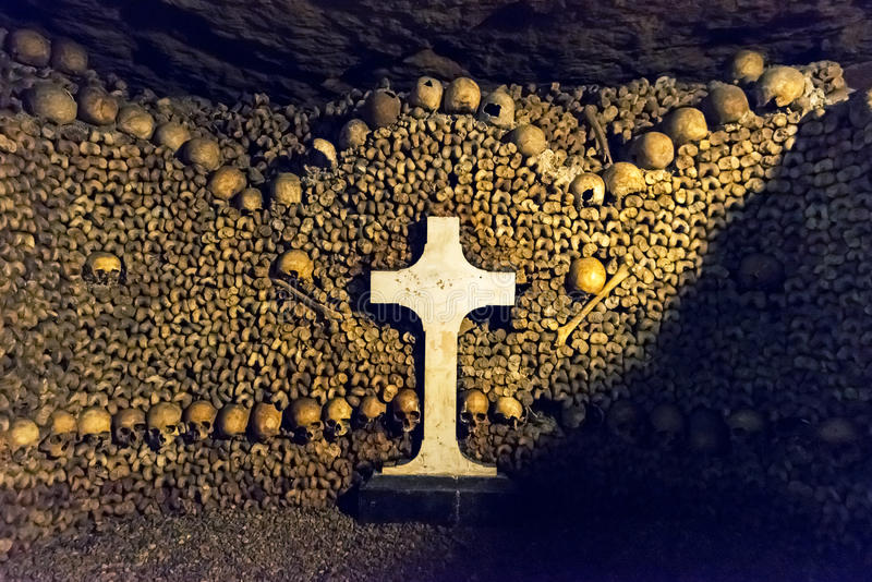 Download The Catacombs of Paris stock image. Image of crypt, famous - 39015585