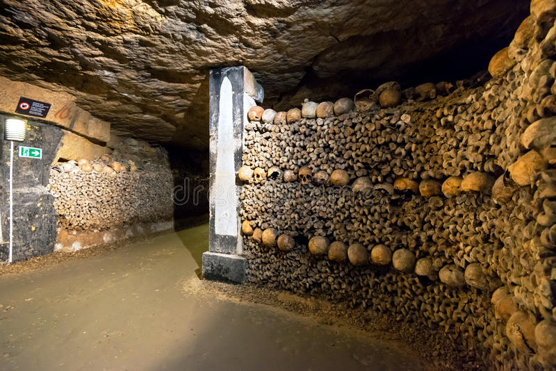 Download The Catacombs of Paris stock image. Image of funeral - 39015589