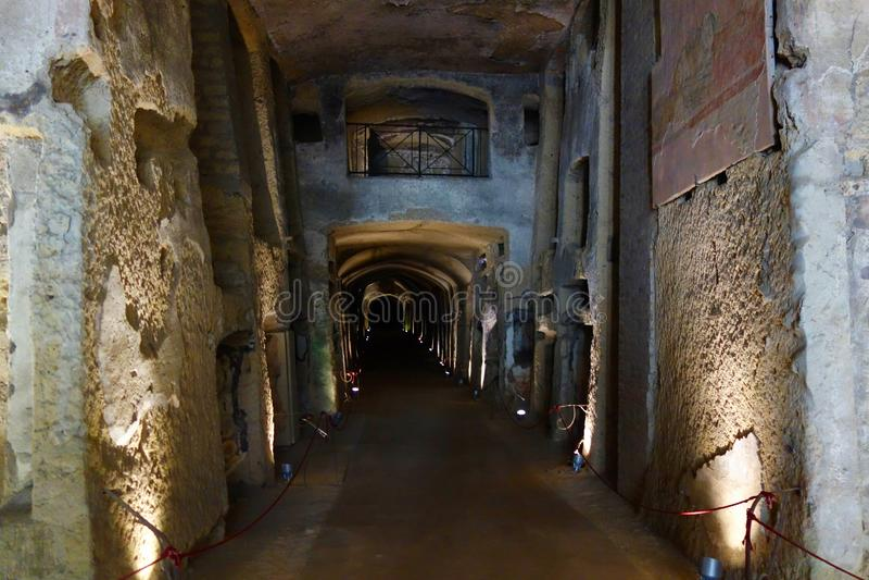 Naples, Italy - Catacombs of San Gennaro. Catacombs of San Gennaro located in Naples, Italy, Southern Europe stock photos
