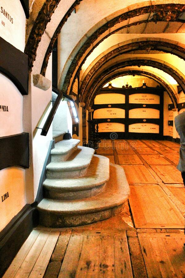 Free Catacombs Under Saint Francis Church In Porto Royalty Free Stock Photography - 170297647