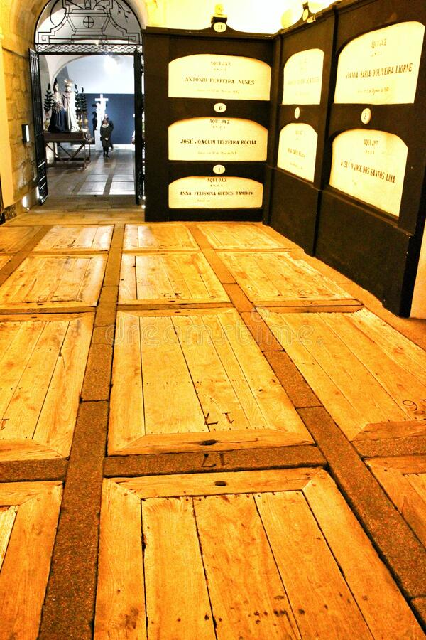 Free Catacombs Under Saint Francis Church In Porto Royalty Free Stock Photos - 170297918