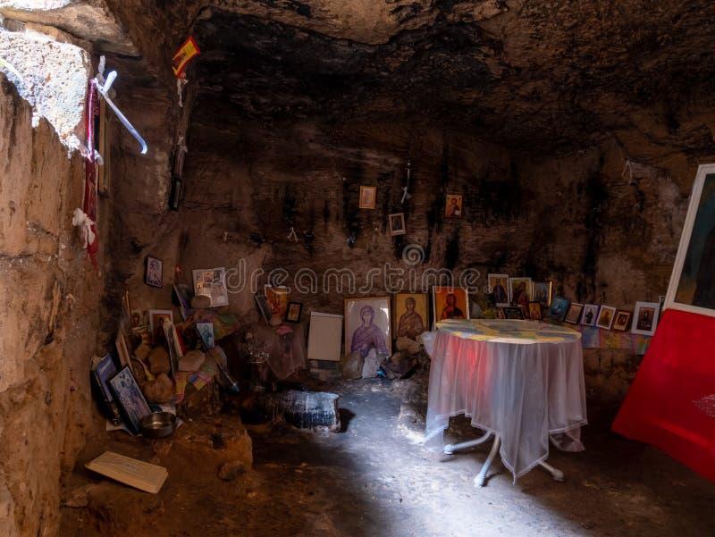 Catacumba de Agia Solomoni foto de stock