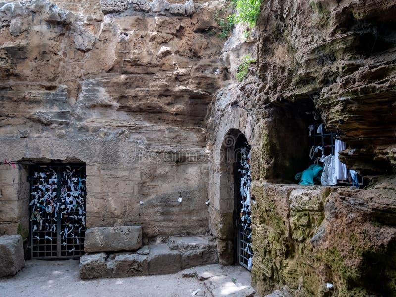 Catacumba de Agia Solomoni fotos de stock royalty free