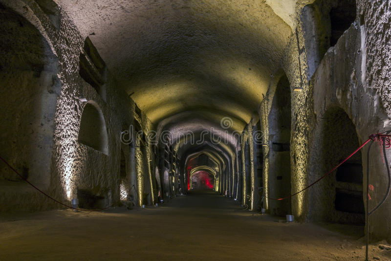 Catacumbas de San Gennaro em Nápoles, Itália imagens de stock royalty free