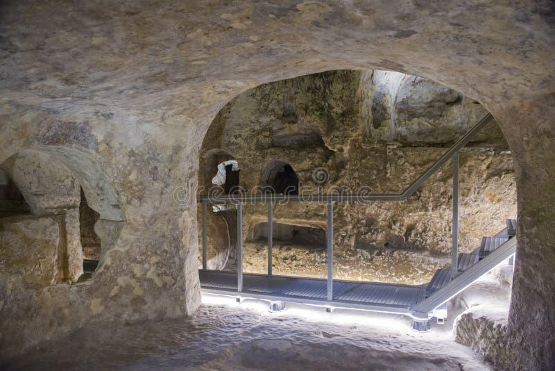 Catacumbas de StPaul's, Rabat, Malta imagens de stock royalty free