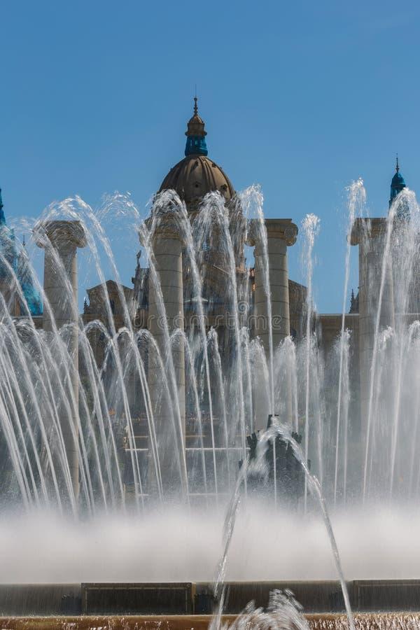 Catalaans Nationaal Art Museum in Barcelona 04 16 2018 Spanje stock foto's