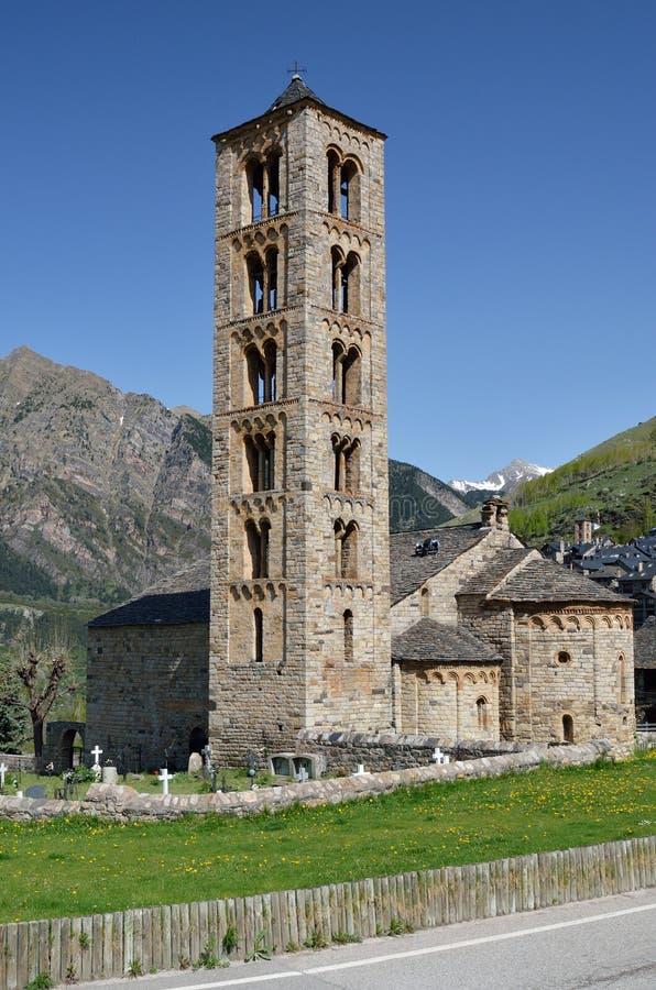 Catalaanse Romaanse kerk van vall DE Boi royalty-vrije stock foto