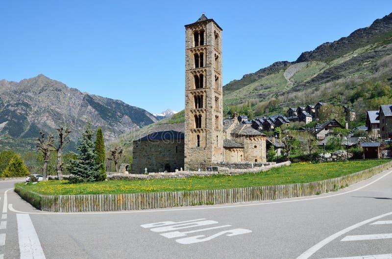 Catalaanse Romaanse kerk van vall DE Boi royalty-vrije stock fotografie