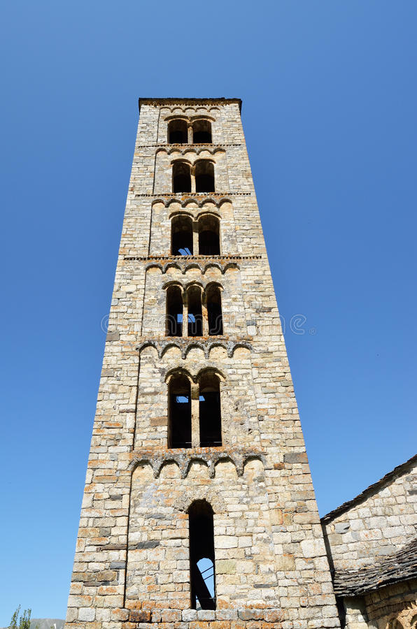 Catalaanse Romaanse kerk van vall DE Boi stock foto's