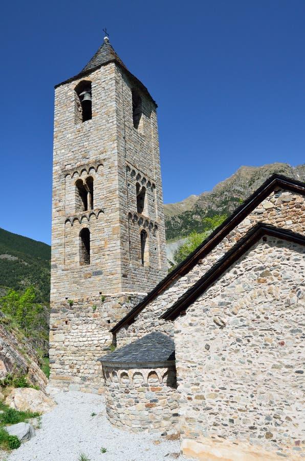 Catalaanse Romaanse kerk van vall DE Boi stock afbeeldingen