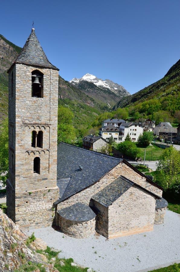 Catalaanse Romaanse kerk van vall DE Boi stock afbeelding