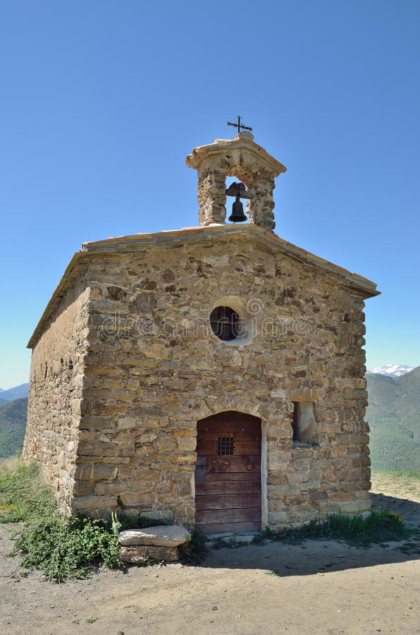 Catalaanse romanesque kerk stock fotografie