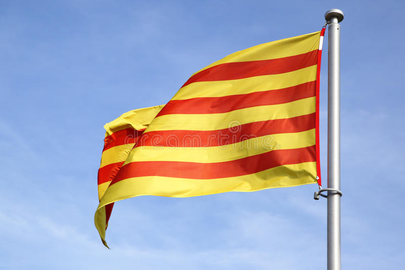 Download Catalan flag stock image. Image of independence, wave - 19963971