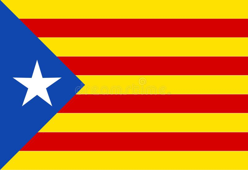 The Catalan Flag. The flag as used by the Catalan portion of Spain royalty free illustration