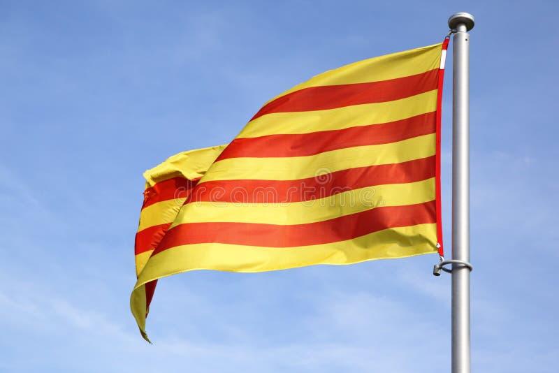 Catalan Flaga Obraz Stock