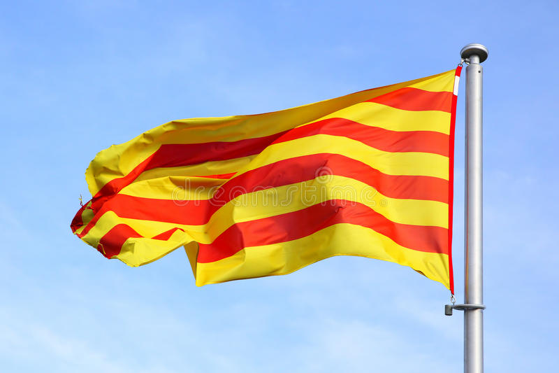 catalan flagga royaltyfria bilder