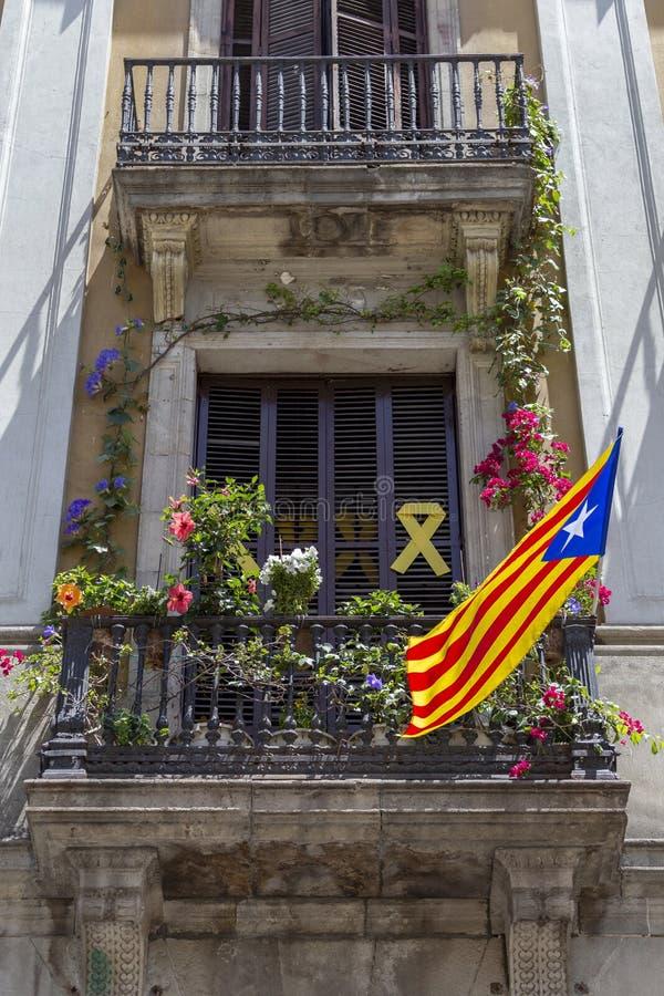 catalan flagga royaltyfri fotografi