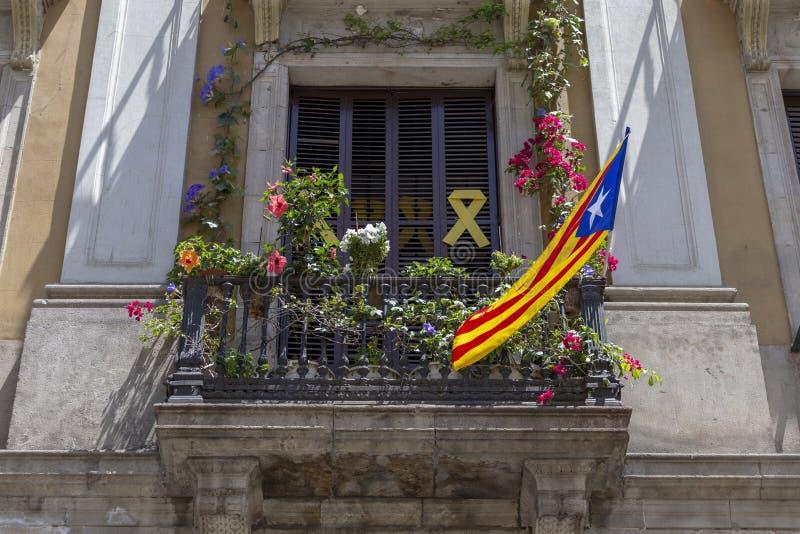 catalan flagga royaltyfria foton