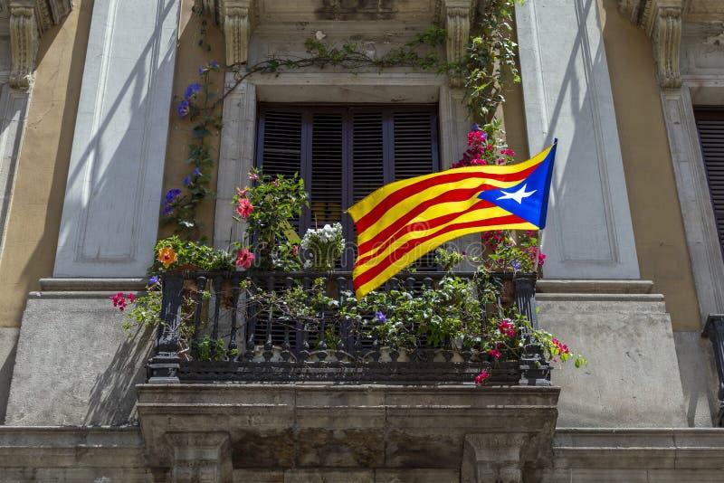 catalan flagga arkivbilder