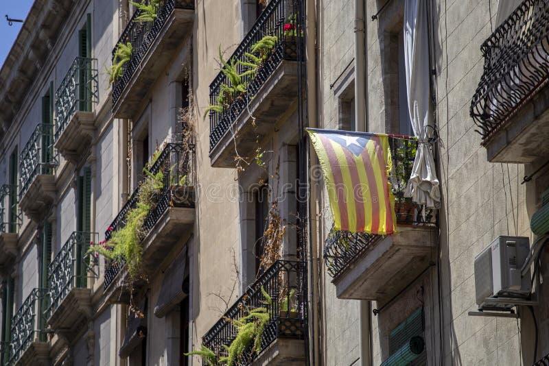 catalan flagga fotografering för bildbyråer