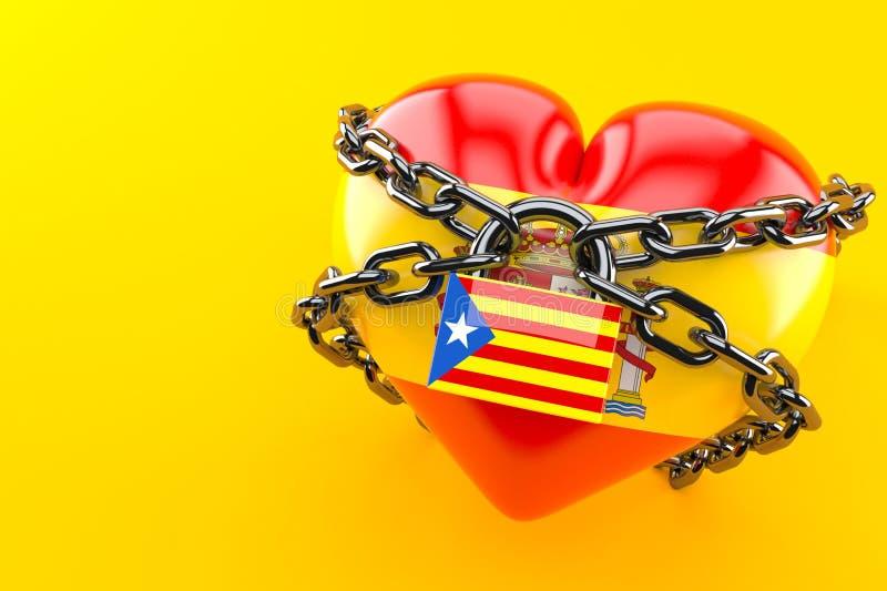 Catalan independence. Concept on orange background royalty free illustration