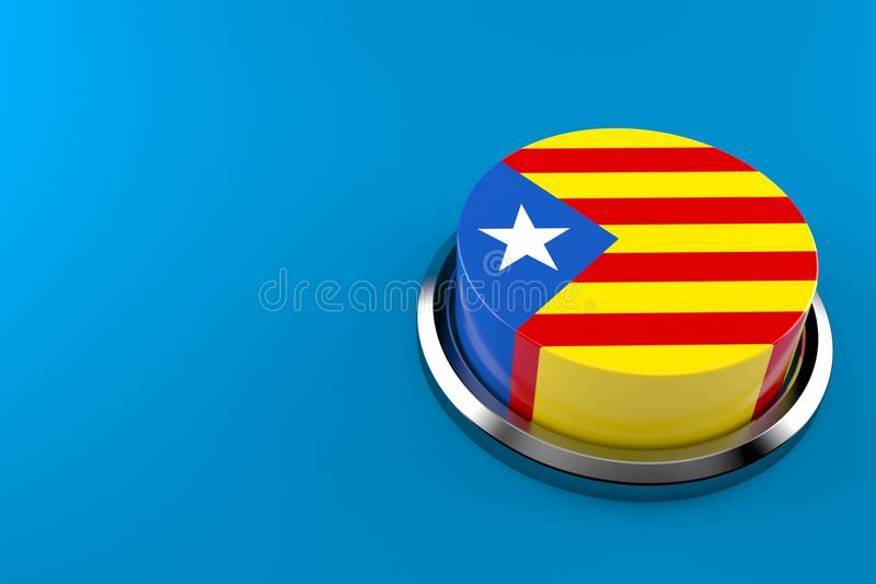 Catalan independence. Concept on blue background royalty free illustration