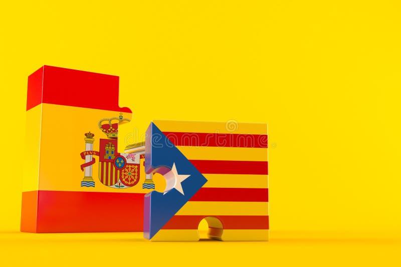 Catalan independence. Concept on orange background vector illustration