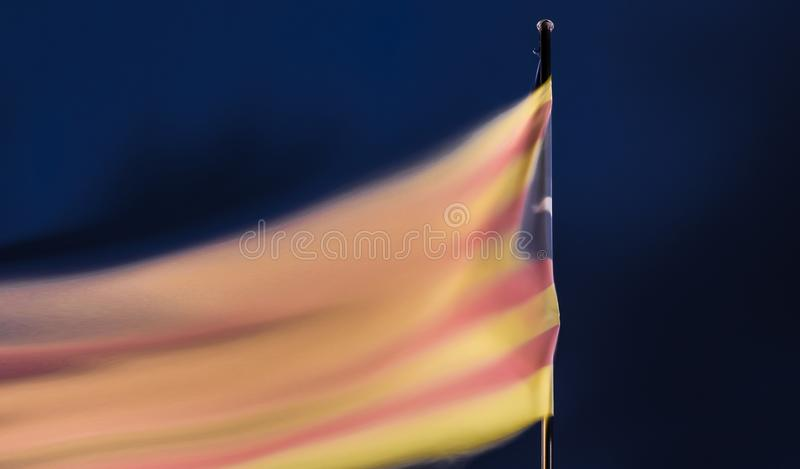 Catalan independence flag. Smooth catalan independence flag. Yellow and red flag. Freedom flag royalty free illustration