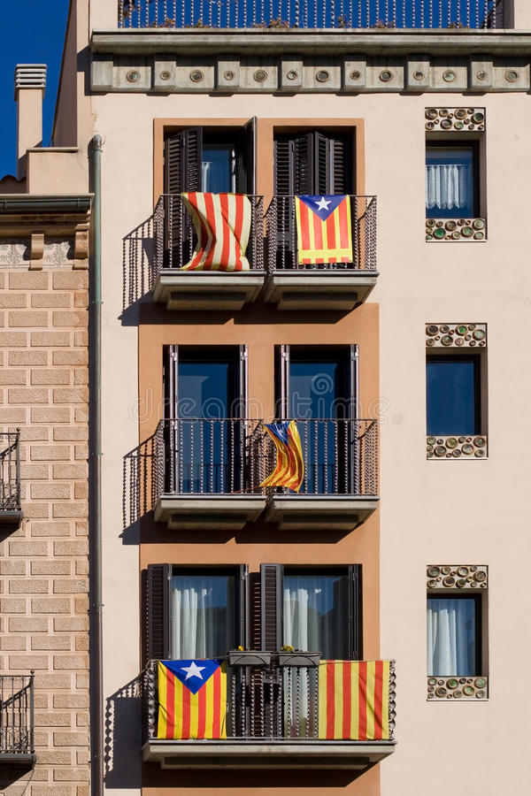 Catalan Independence Flags Stock Images