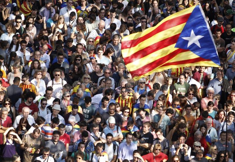 Catalona republic independence day royalty free stock photos