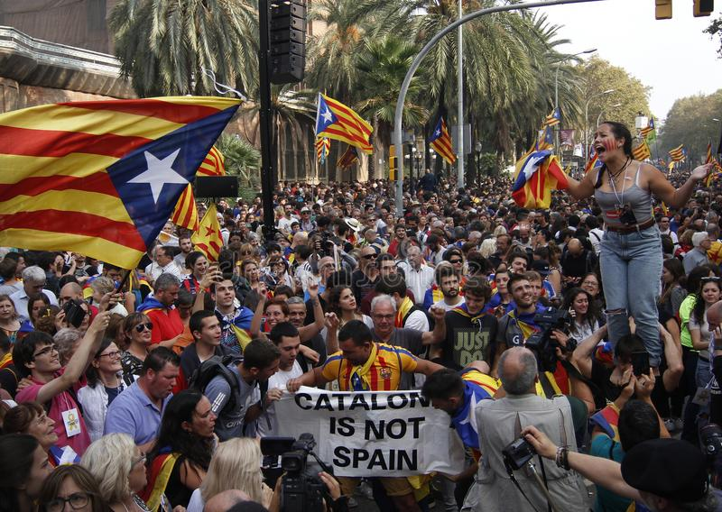 Catalona republic independence day stock photo