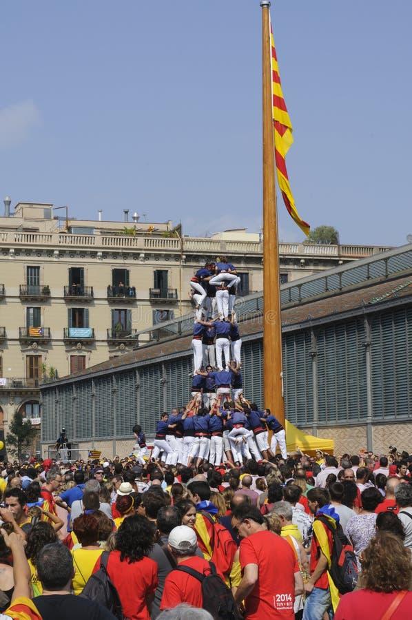 Catalan mänskliga torn, Castells arkivbild