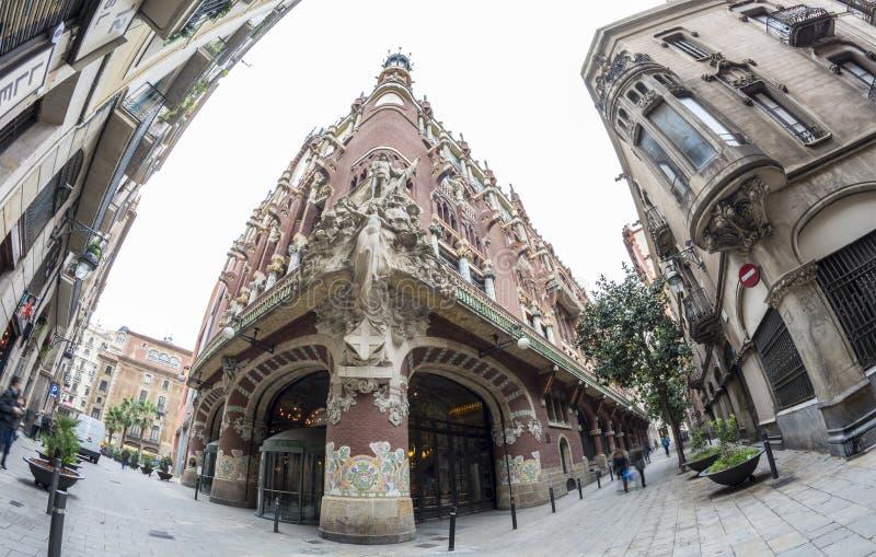 Catalan music palace, Barcelona, Spain stock photos