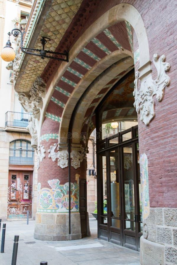 catalana De Los angeles Musica Palau obraz stock