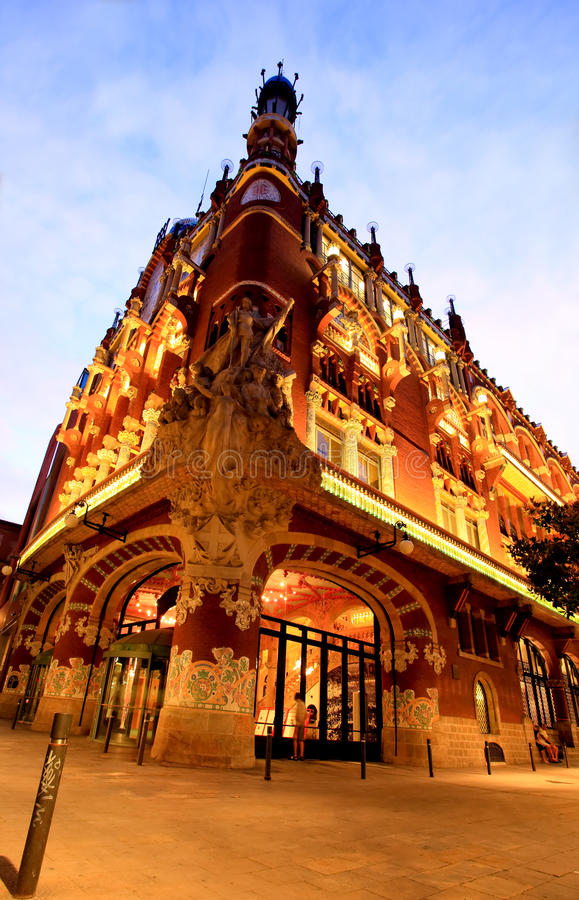 The Catalana Music Hall in Barcelona royalty free stock image
