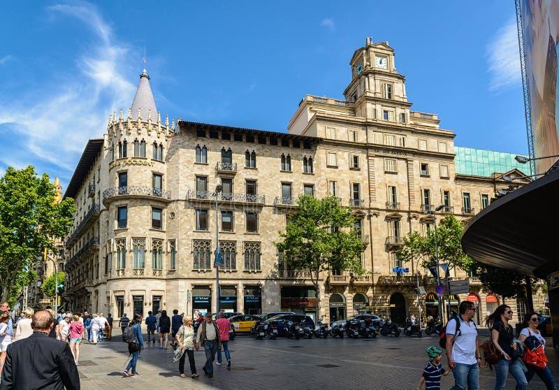 Catalana Västerbyggnad på Passeig de Gracia i Barcelona, Spanien royaltyfri bild