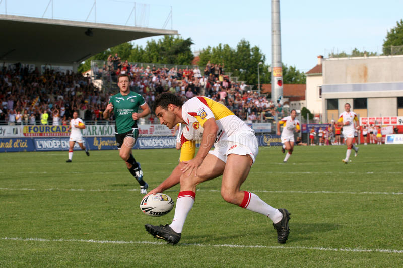 Catalans Dragons Vs St Helens Editorial Stock Image