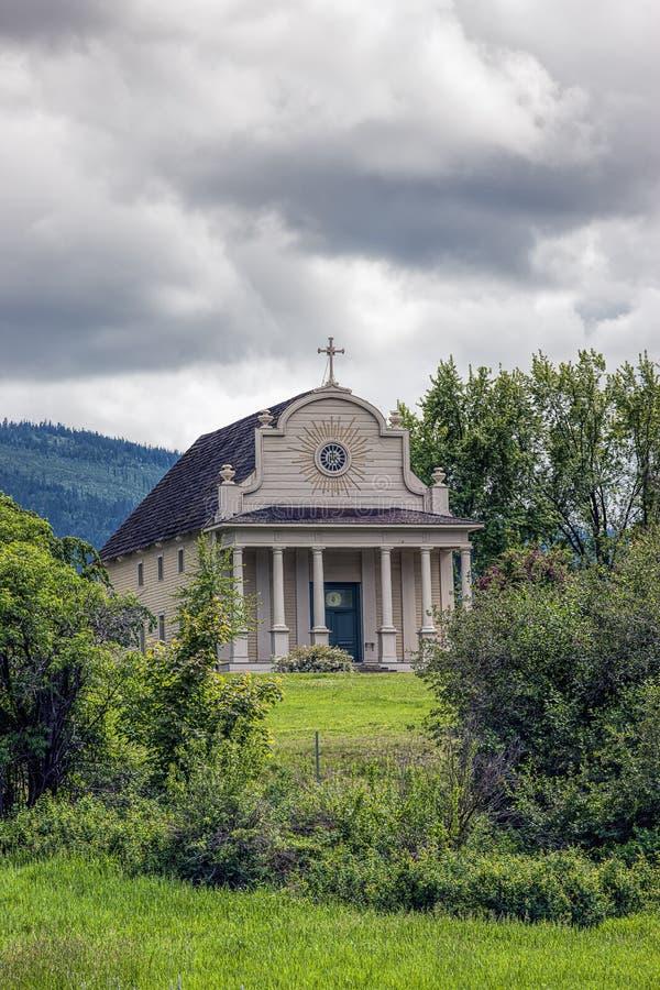 Cataldo Mission in Noord-Idaho stock foto
