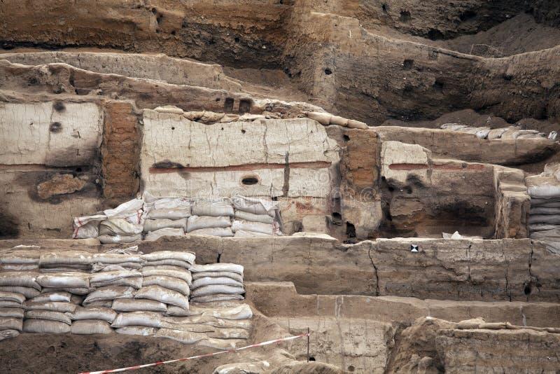 Catalhoyuk Konya (Turquía) Construido en 7500 A C imagen de archivo libre de regalías