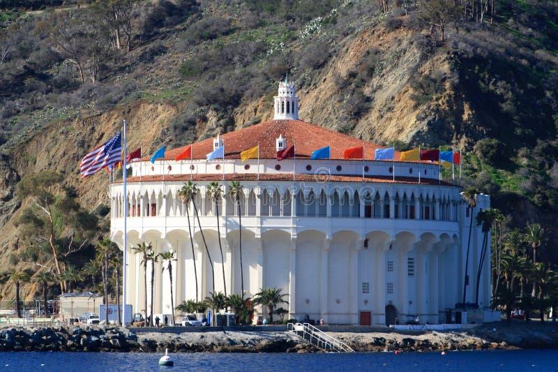 Catalina Casino op Catalina Island Los Angeles California stock foto's