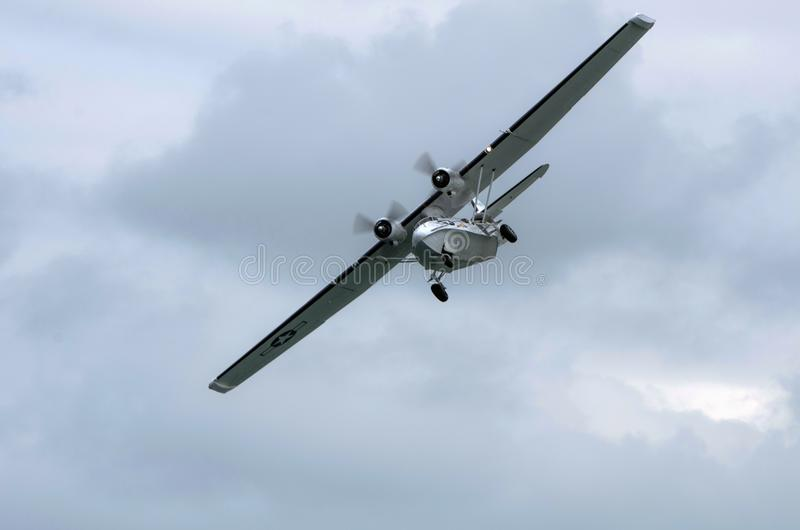 Catalina Flying Boat with Ground Gear down royalty free stock photos