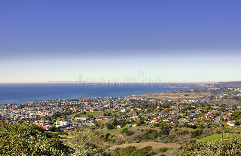 Catalina Island from San Clemente. Catalina Island taken from Misty Ridge in San Clemente California royalty free stock photography
